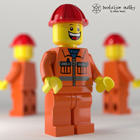 Lego Construction Worker Figure
