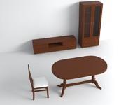 3d furniture sitting room model