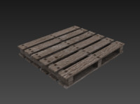 Low poly weathered Wooden Pallet