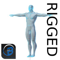 RIGGED Muscular Man Base Mesh HIGH POLY