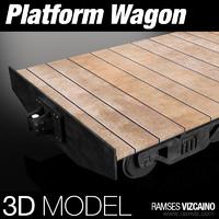 platform wagon 3d max