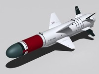 kh-35e missile aircraft 3d max