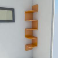 3d model shelf corner 2011