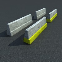 highway concrete block 3ds