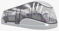 3d futuristic passenger transporter model