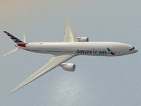 3d b 777-300 er american airlines