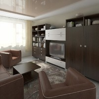 3ds max interior hotel room