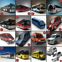 3d model 7 articulated bus