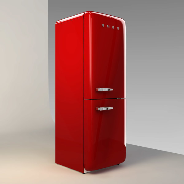 3d model smeg fridge freezer - Smeg - Classic Fridge Freezer... by Set Visions Ltd