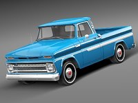 3d model of chevrolet c10 pickup antique
