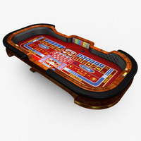 Casino Craps Table - Red