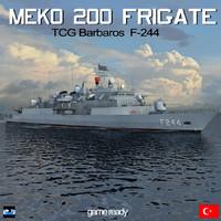 3d model meko 200 frigate