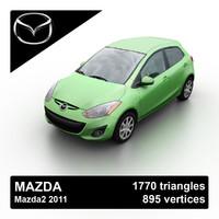 3d model 2011 mazda mazda2 demio