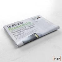 3d newspaper le monde