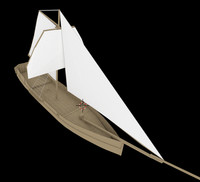 3d pirate sloop model