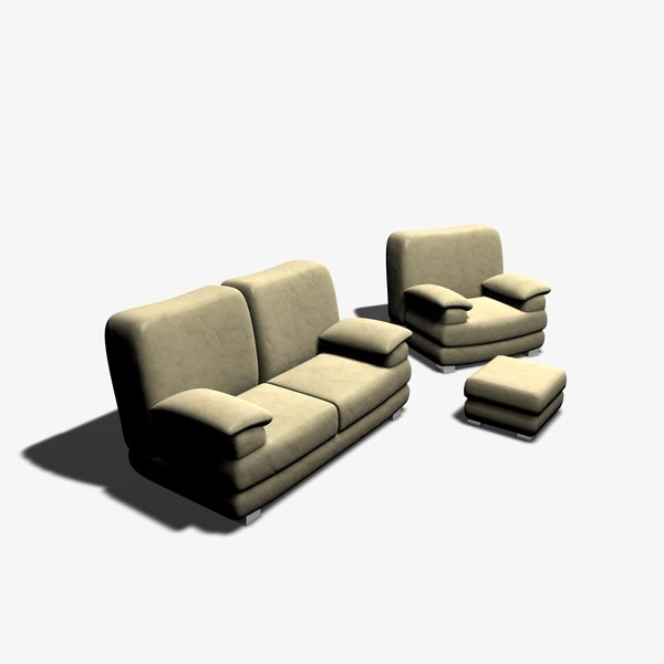 chair sofa 3d model - Furniture... by jpwood78