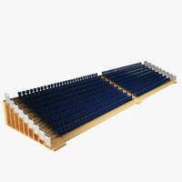 sports hall seating stand 3d 3ds