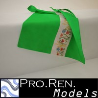 3d max green towel -