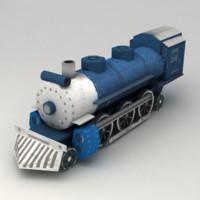 train polys 3d model
