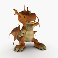 baby dragon rig 3d max