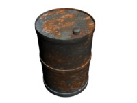 rusted barrel