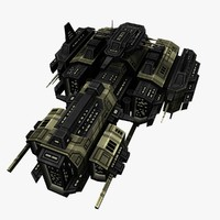 3d model upgraded ship battleship destroyers