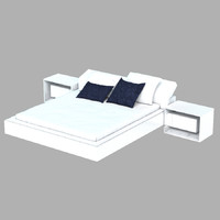 3d modern double bed