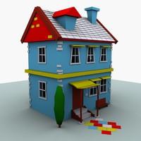3d model car house
