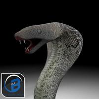 cobra snake 3d fbx