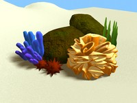coral cartoon 3d model