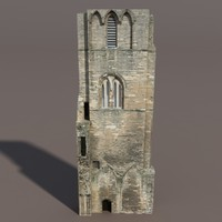 3d model of castle ruin modelled