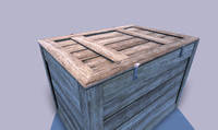 wooden crate 3d obj