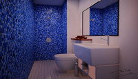 simple bathroom 3d max