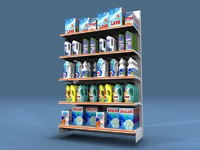 3d model shelf shelves detergent rack
