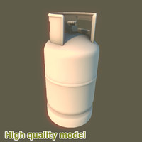 propane gas tank small 3d model