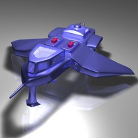 space fighter 3d obj