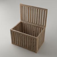 3dsmax box wood wooden