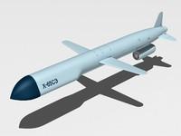 kh-65 cruise missile 3d model