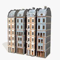tileable classical houses 5m obj