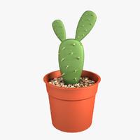 3d cactus pot model