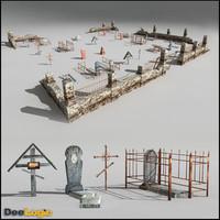 3d russian graveyard