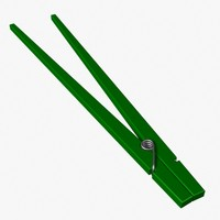 chopsticks 3d model