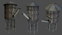 3d watertower model
