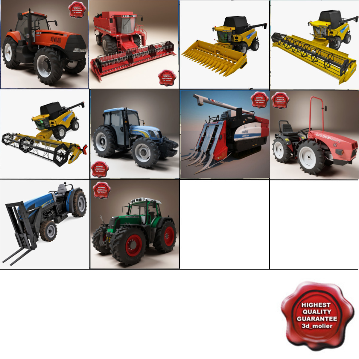 Combines and tractors collection