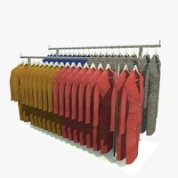 c4d custom clothes rack coats