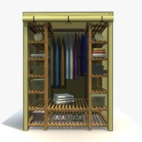 Wardrobe With Clothes 4