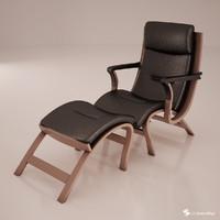 armchair pouf 3d dwg