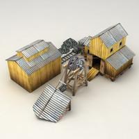 Lowpoly coal mine model