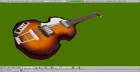 3d model paul hofner bass