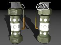 3ds max m84 stun grenade